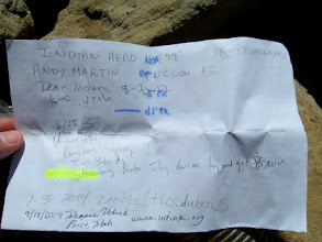 Photo: Indian Head summit register