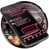 SMS Messages Retro Pink Theme