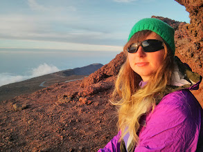 Photo: Waiting for sunset, back at the top of Haleakala