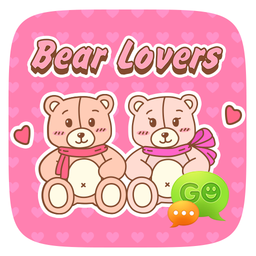 FREE GO SMS LOVER BEAR STICKER