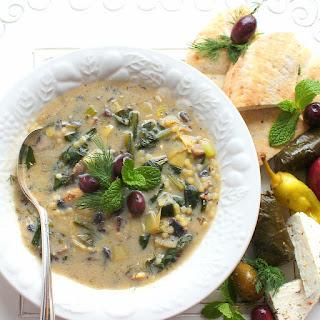 Vegetarian Magiritsa (Greek Easter Soup).