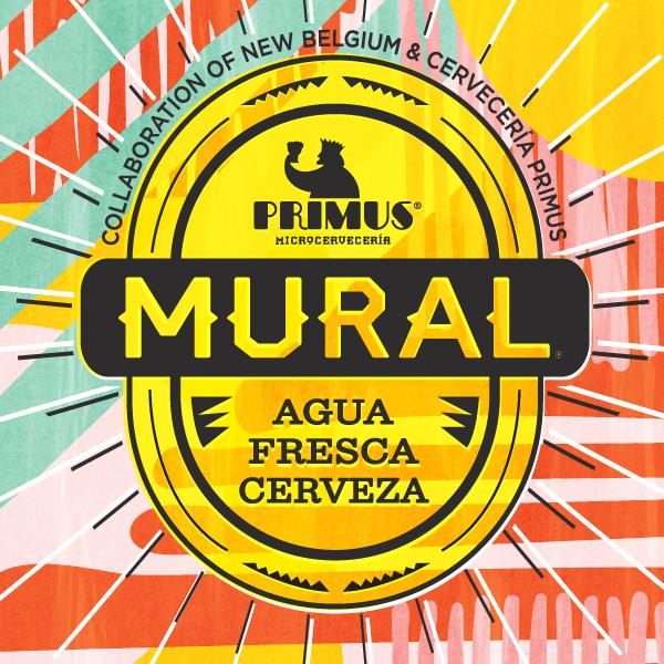 Logo of New Belgium Mural Agua Fresca Cerveza