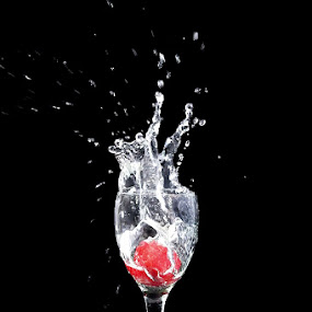 Straw Splash by Cibo Heriansyah - Artistic Objects Still Life ( splash, still life, glass, strawberry )