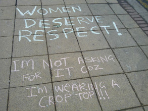 Photo: Hollaback Sheffield chalk walk, 4.11.13