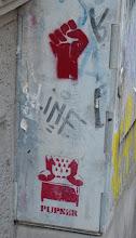 """Photo: Stencil; Unknown Artist; """"Sessel-Pupser"""""""