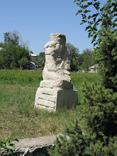 Photo: Osh, sculptures near theatre