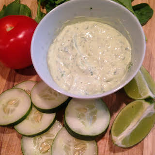 Avocado Ranch Salad Dressing.