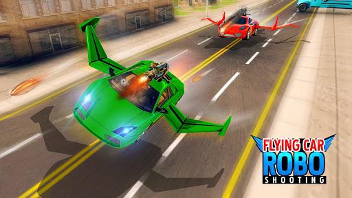 Flying Car Games 2020- Drive Robot Shooting Cars 1.0 screenshots 11