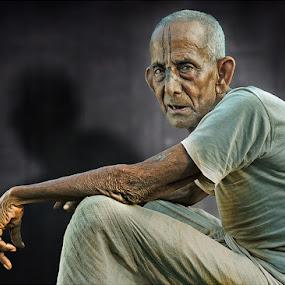 88 by Subrata Kar - People Portraits of Men ( wrinkles, colour, old, people, portrait )