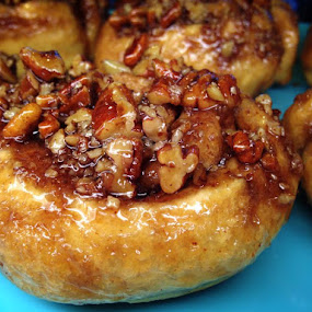 Pecan Sticky Bun by Roberta Lott-Holmes - Food & Drink Cooking & Baking ( sticky, buns, bakery, breakfast, pecan,  )