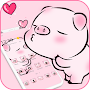 Pink Cute Love Piggy Theme