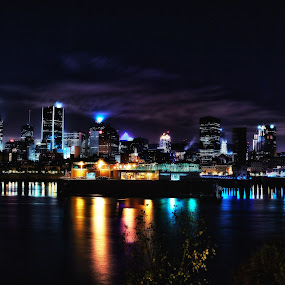 Montreal Night by Alain Ranger - City,  Street & Park  Night ( canon, montreal, summer, night )