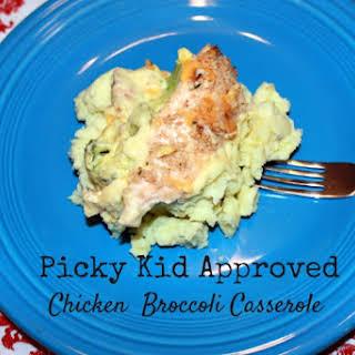 Picky Kid Approved Chicken Broccoli Casserole.