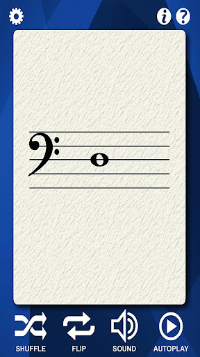 Bass Guitar Note Flash Cards