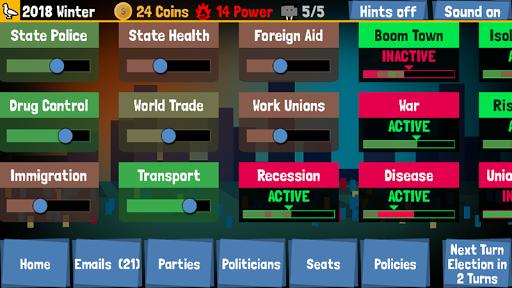 Code Triche Big Politics Inc. UK Edition APK MOD screenshots 2
