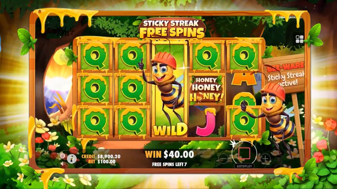 Play Honey Honey Honey Video Slot by Pragmatic Play for Real Money at Scatters Casino