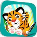 Coloring Book Tiger Smile Kids icon
