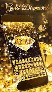 Gold Diamond Keyboard Theme - náhled