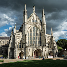Winchester Cathedral by Mike Hayter - Buildings & Architecture Places of Worship ( winchester, #GARYFONGDRAMATICLIGHT, #WTFBOBDAVIS )