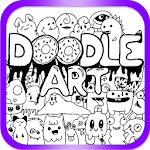 Doodle Coloring Book 2018 - Creative Art Icon