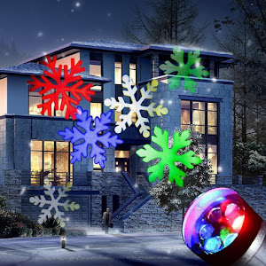 Proiector laser fulgi de zapada colorati cu LED RGB pentru exterior