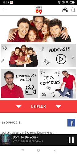 Manu dans le 6/9 Android App Screenshot