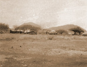 Photo: Kongwa scene with Church Hill and Lion Hill - unretouched