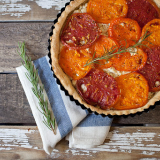 Tomato + Goat Cheese Tart With Rosemary Crust