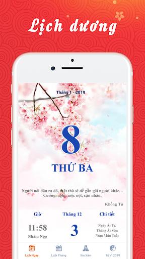 Lịch Vạn Niên 2019 - Lịch Âm 2019 3.8 screenshots 2