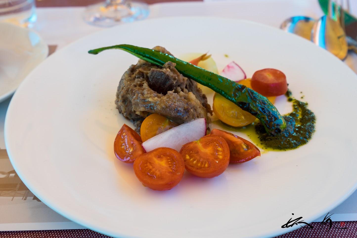ふらの和牛のリエットと季節の野菜