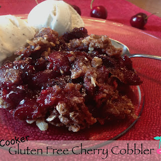 Gluten Free Cherry Cobbler in the Slow Cooker