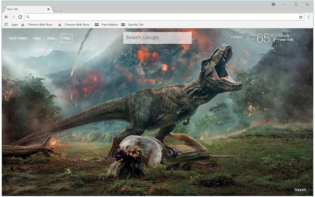 Jurassic World Fallen Kingdom HD New Tab