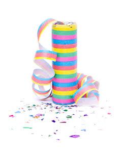 Serpentin med konfetti