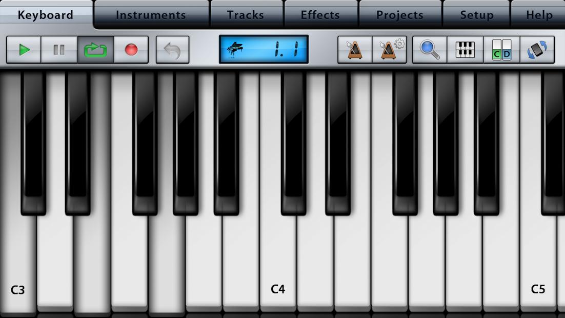 Music Studio Lite Android App Screenshot