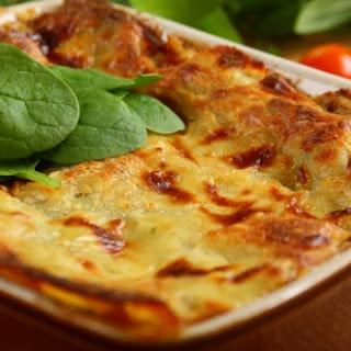 Lasagne mit Spinat und Pilzen