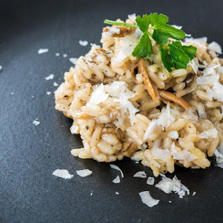 Yellow Foot Chanterelle Mushroom Risotto