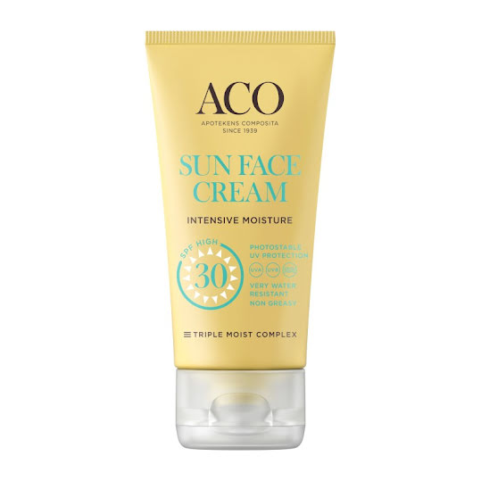 ACO Sun Face Cream SPF 30, 50 ml