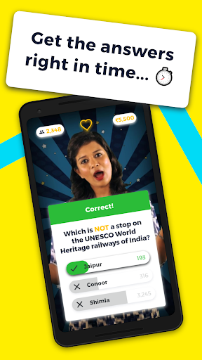 Video GK quiz with cash prizes- Mob Show game (apk) free download for Android/PC/Windows screenshot