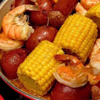 Cajun Shrimp and Sausage Boil.