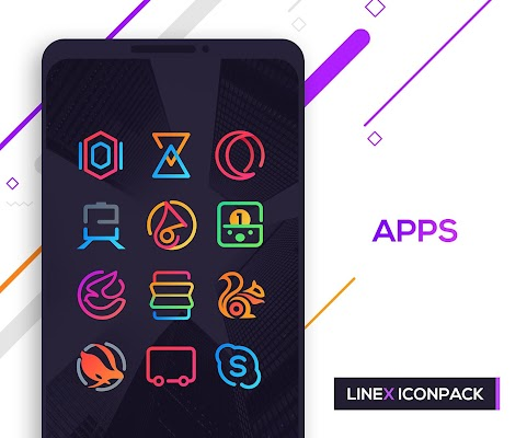 LineX Icon Pack Screenshot Image