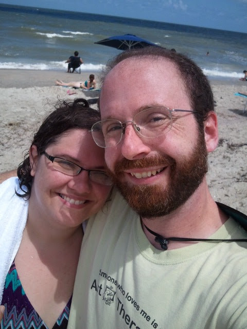 Jessie and Ben on Tybee beach