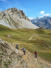 Photo: Première descente: direction Tignes les Brévières