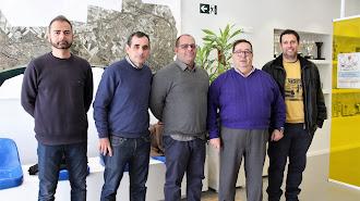 La nueva junta direcitva del Club Ajedrez Roquetas se reunió con José Juan Rubí.
