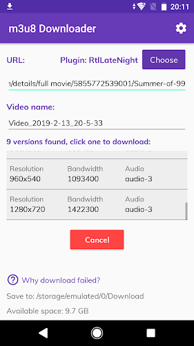 Download RtlLateNight video extractor(M3U8 Downloader plug
