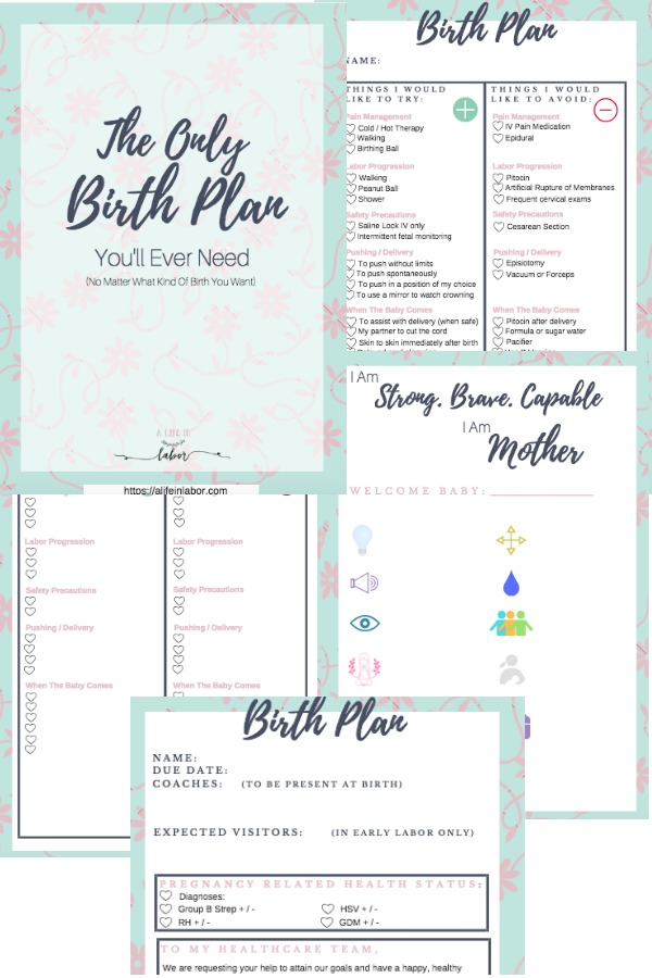 birth plan, birth plan template