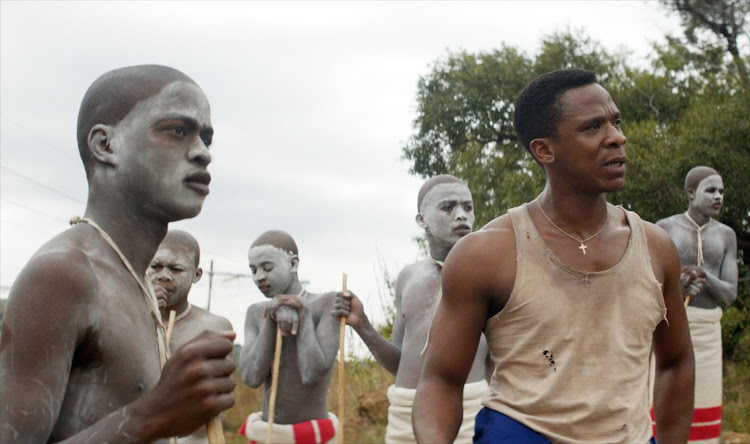Scene from the movie Inxeba (The Wound).