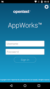 OpenText AppWorks 16 - náhled
