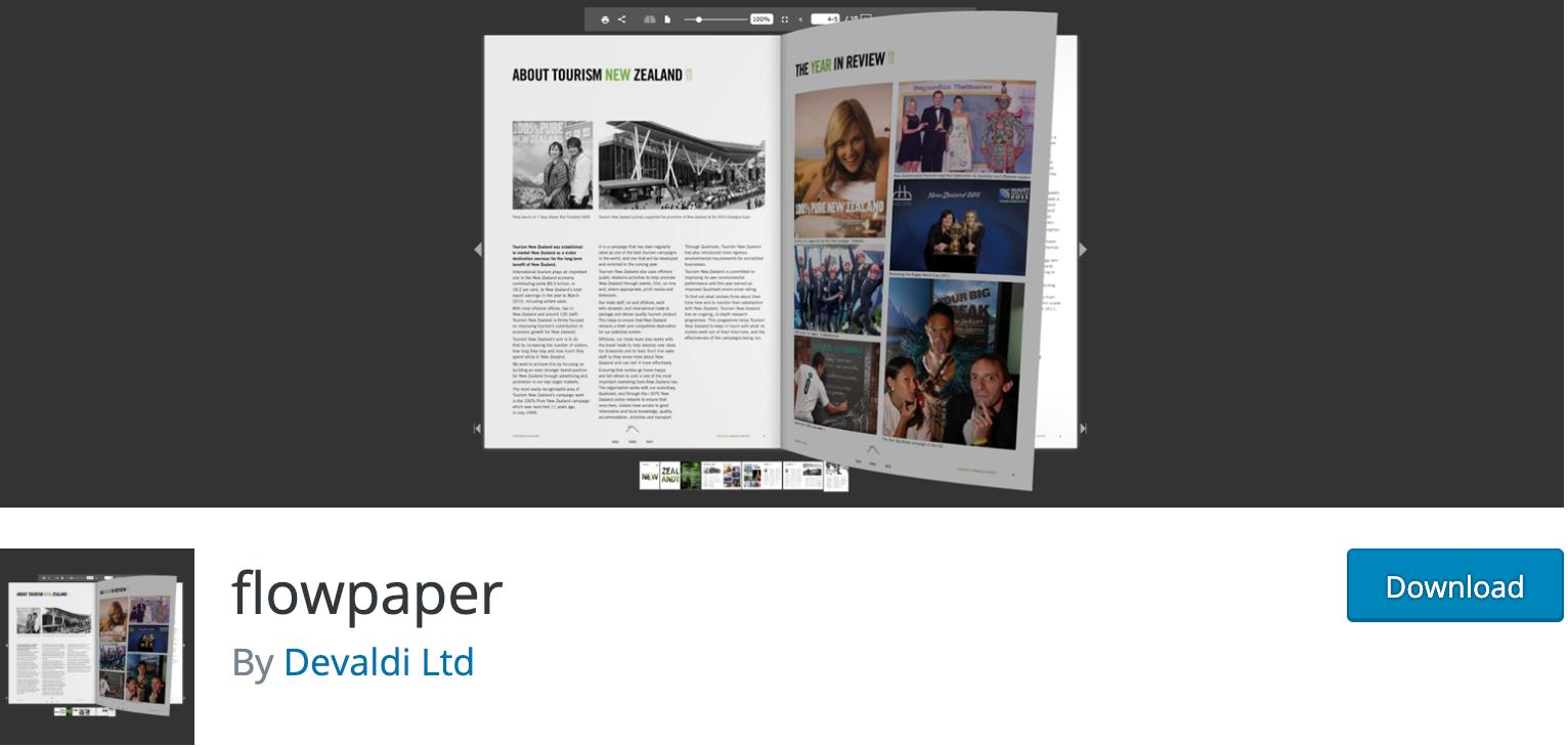 Flowpaper WordPress PDF Plugin Download