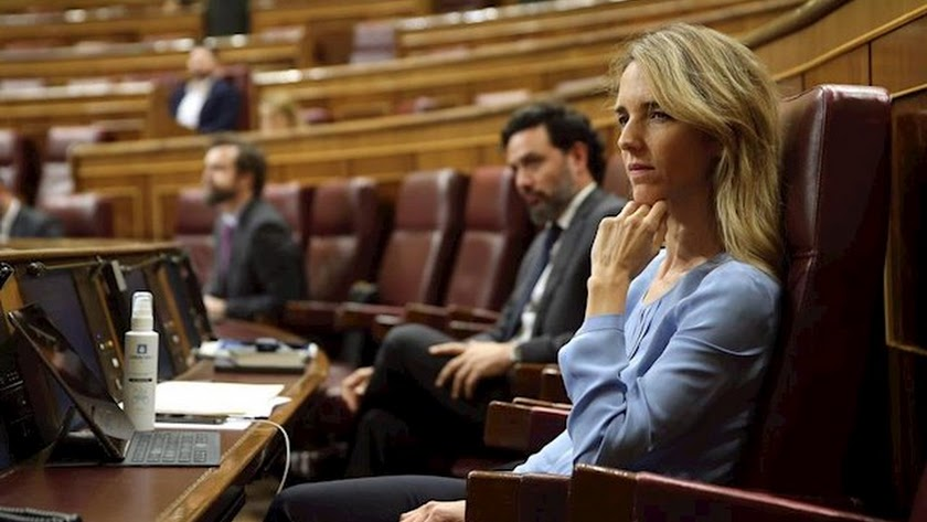 Cayetana Álvarez de Toledo, en el Congreso de los Diputados.