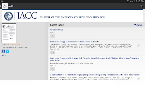 JACC Journals- screenshot thumbnail